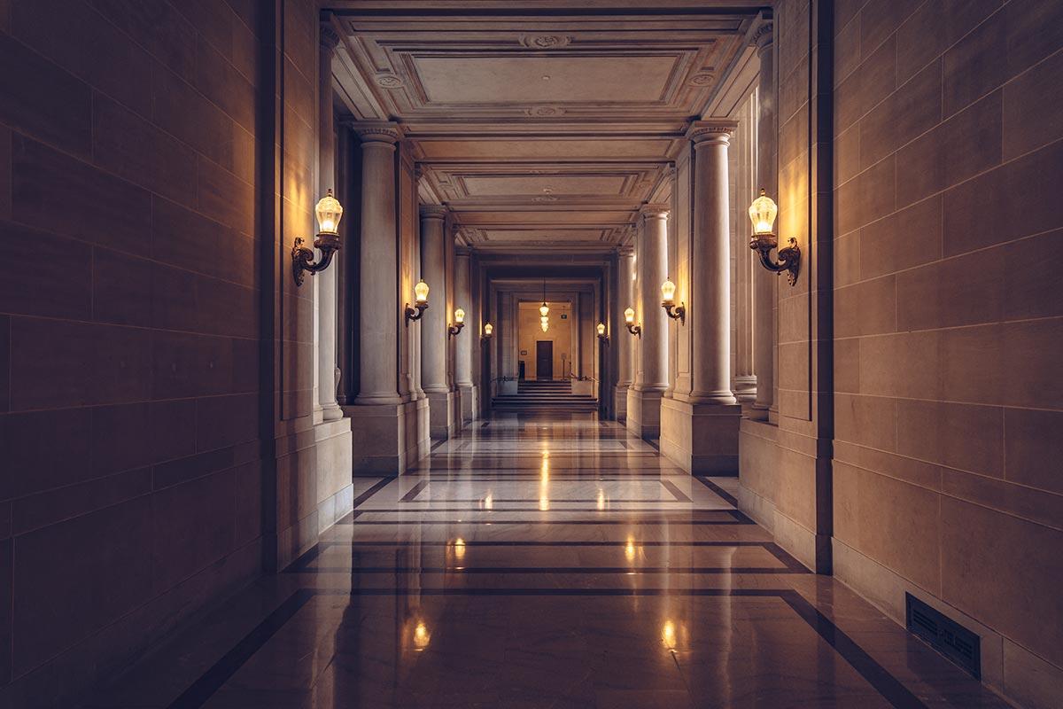 Refuse to hibernate San Francisco City Hall couloir