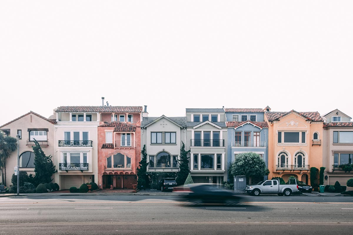 Refuse to hibernate San Francisco maisons en couleurs