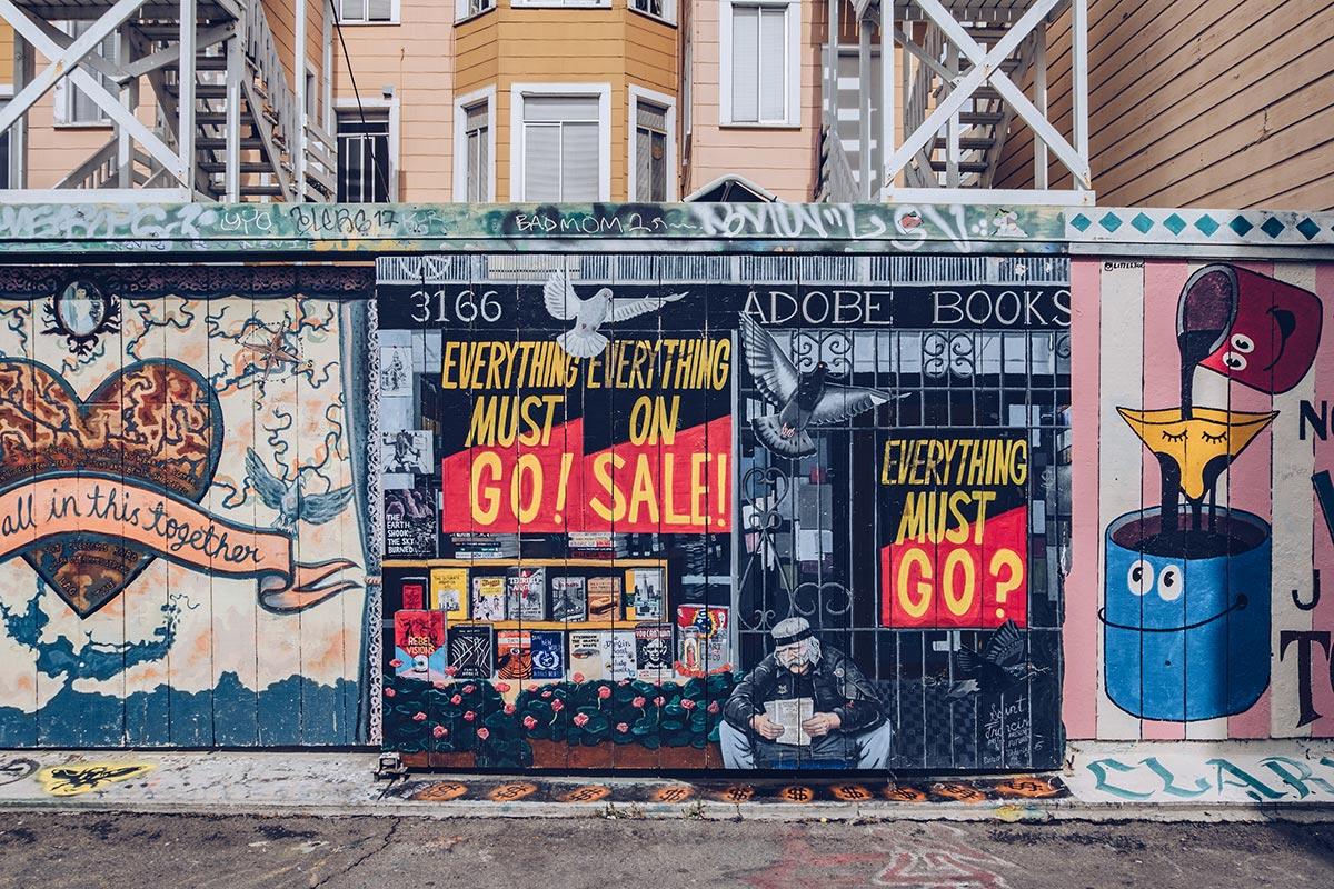 Refuse to hibernate San Francisco Mission District street art