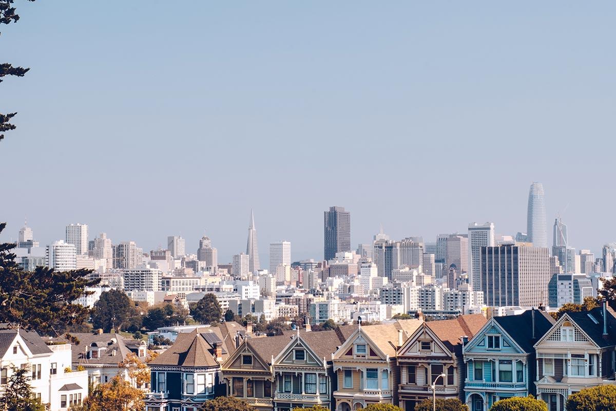 Refuse to hibernate San Francisco Painted Ladies immeubles