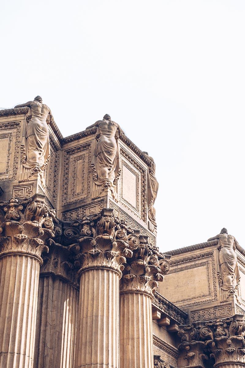 Refuse to hibernate San Francisco Palace of Fine Arts sculptures