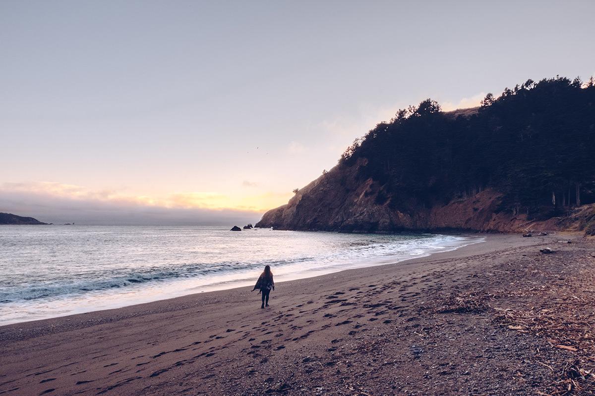 Refuse to hibernate San Francisco plage Kirby Cove Audrey