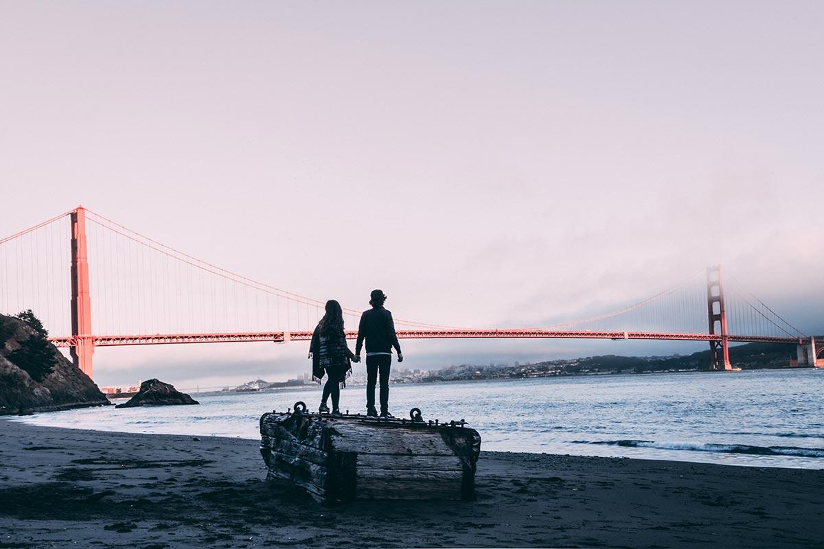 Refuse to hibernate San Francisco plage Kirby Cove pont du Golden Gate Audrey Mickaël
