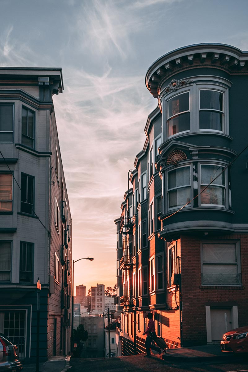 Refuse to hibernate San Francisco Russian Hill coucher de soleil