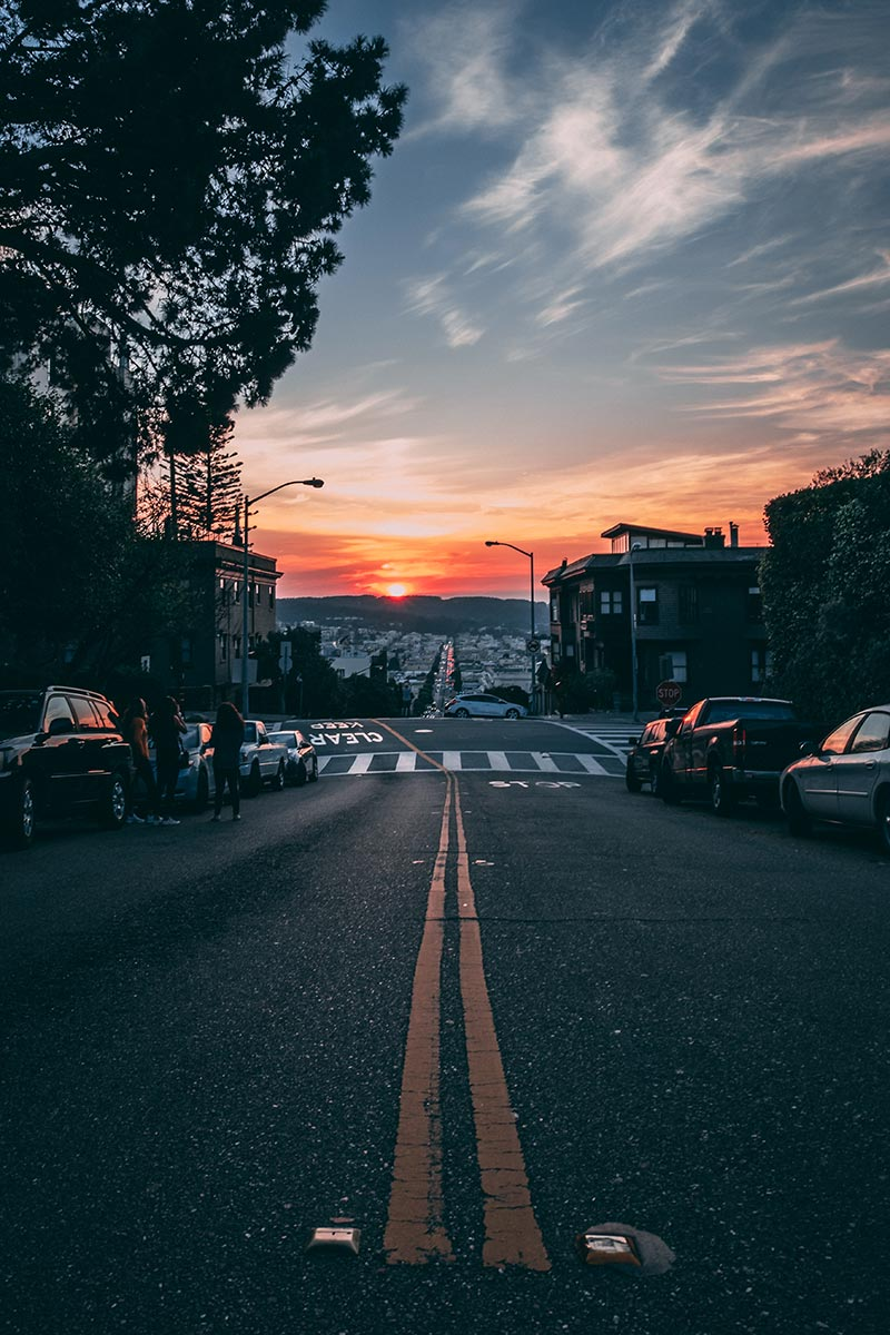 Refuse to hibernate San Francisco Russian Hill sunset