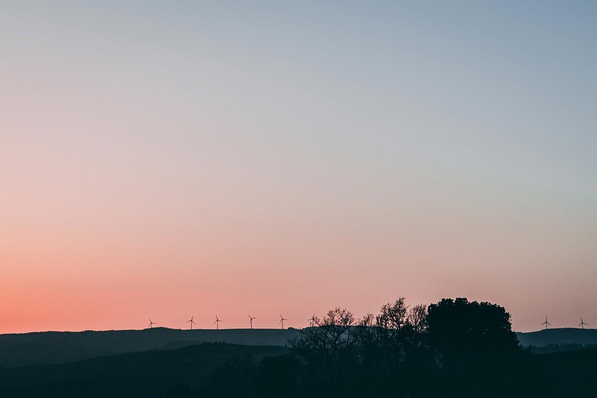 Refuse to hibernate Aveyron Millau coucher de soleil