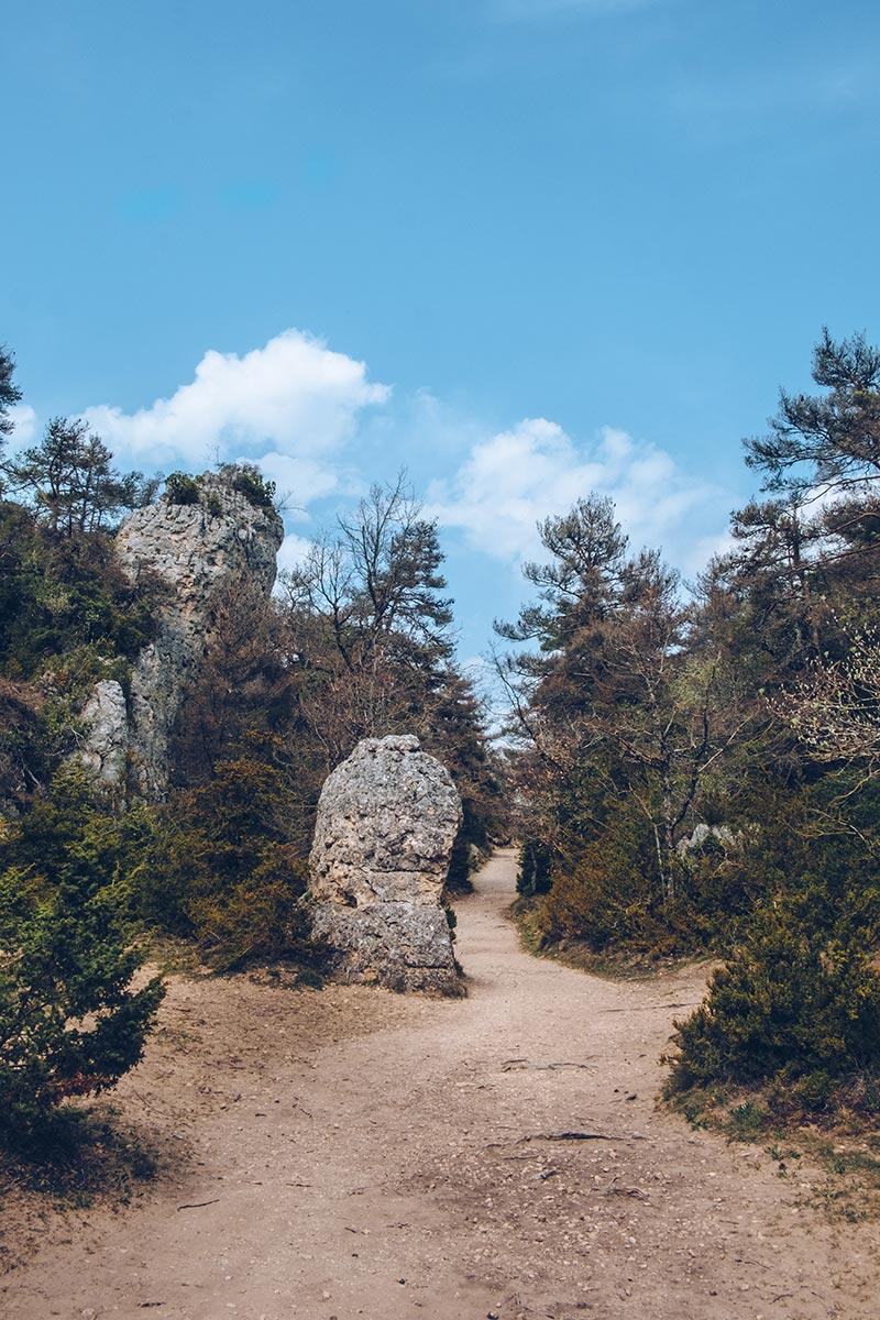 Refuse to hibernate Aveyron Montpellier-le-Vieux rocher chemin
