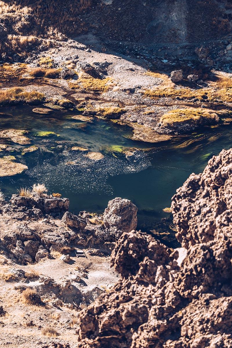 Refuse to hibernate Mammoth Lakes Hot Creek geological site focus
