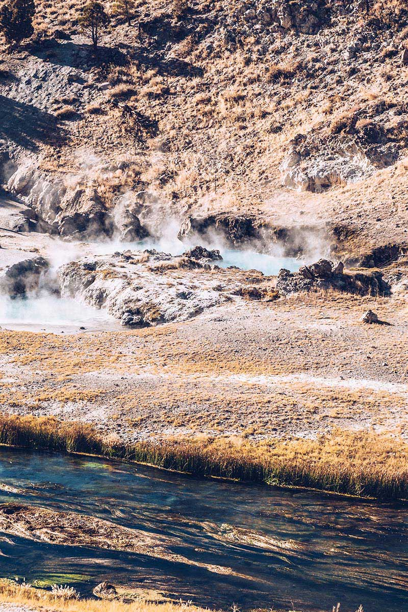 Refuse to hibernate Mammoth Lakes Hot Creek ruisseau