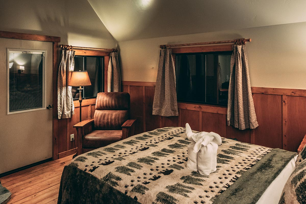 Refuse to hibernate Mammoth Lakes Tamarack Lodge and Resort chalet intérieur