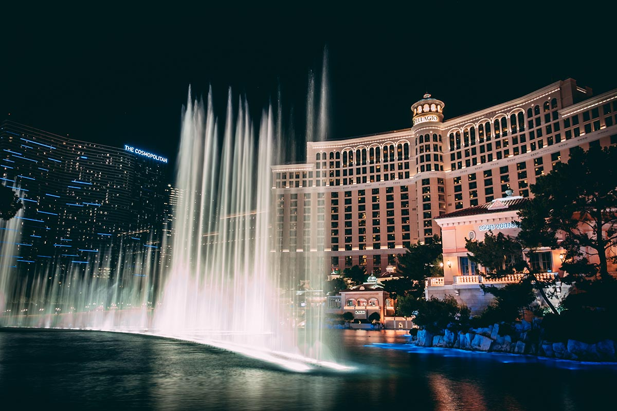 Refuse to hibernate Las Vegas hôtel Bellagio fontaine