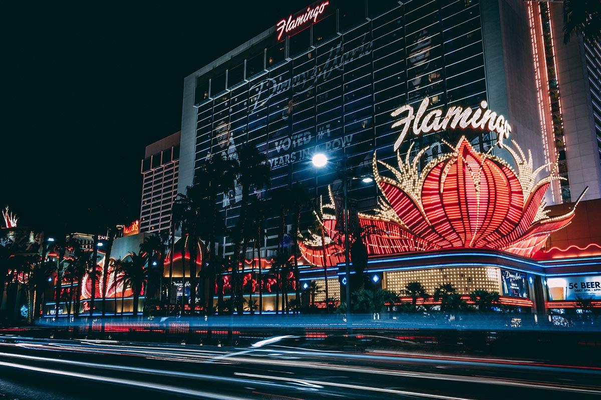 Refuse to hibernate Las Vegas hôtel Flamingo de nuit