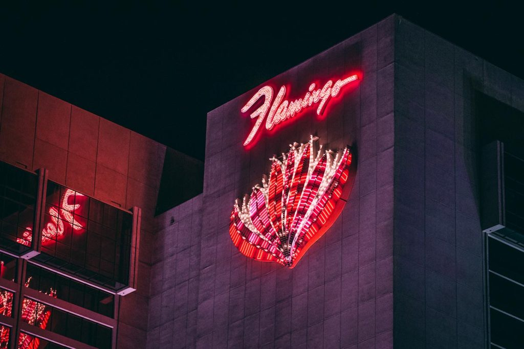 Refuse to hibernate Las Vegas hôtel Flamingo depuis le strip