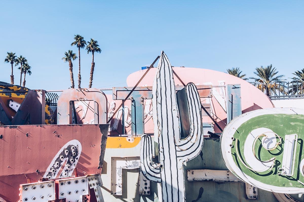Refuse to hibernate Las Vegas The Neon Museum cactus