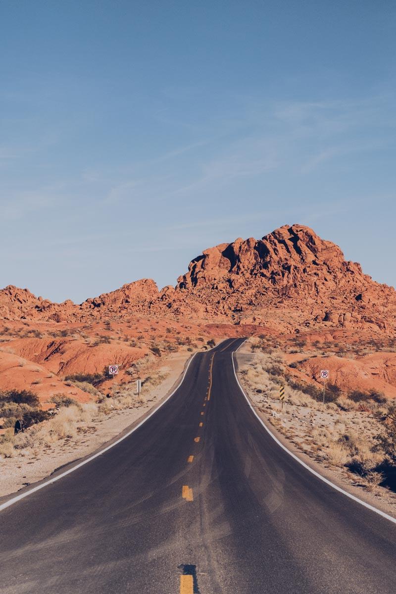 Refuse to hibernate Las Vegas Valley of Fire sur la route