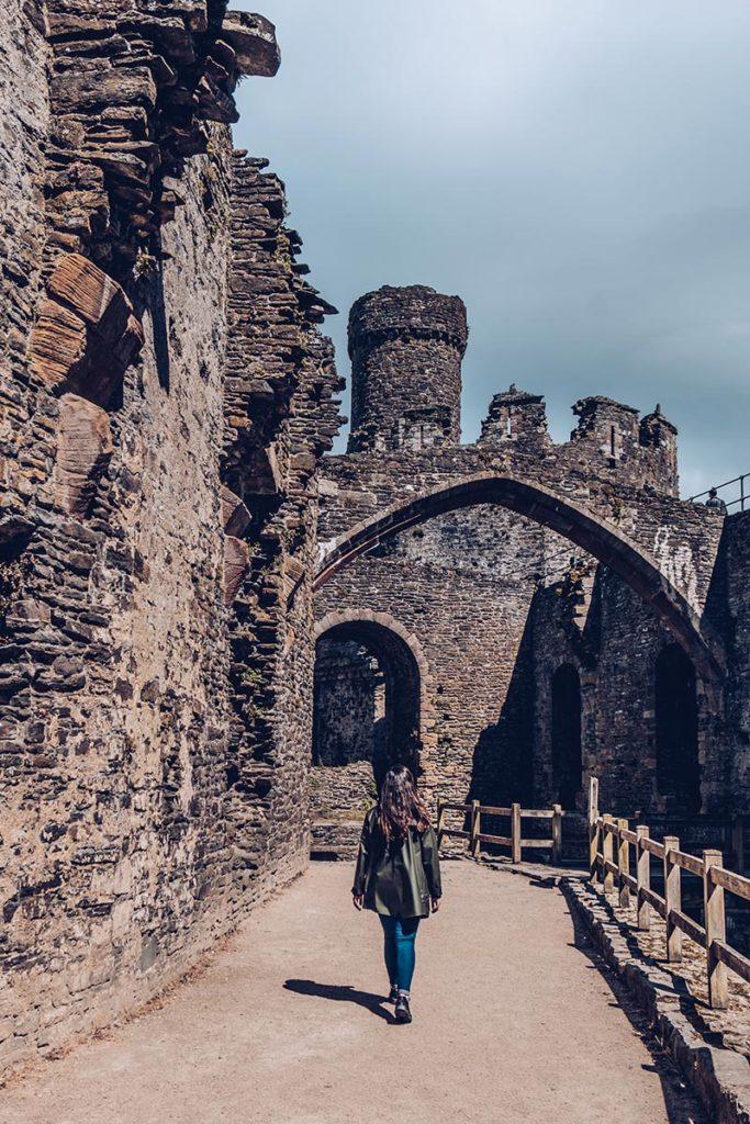 Refuse to hibernate Pays de Galles intérieur du château de Conwy Audrey