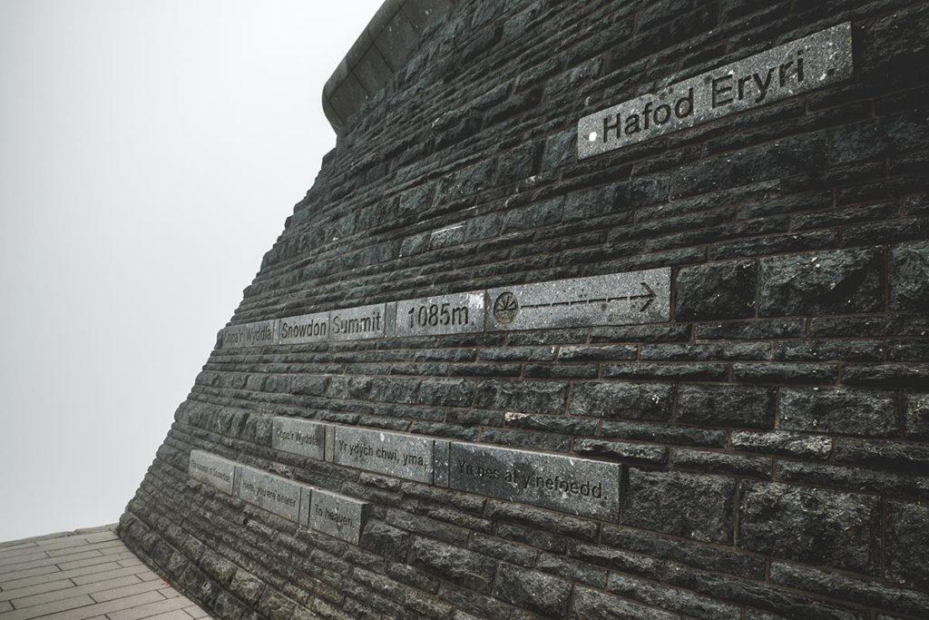 Refuse to hibernate Pays de Galles Mont Snowdon 1085 mètres