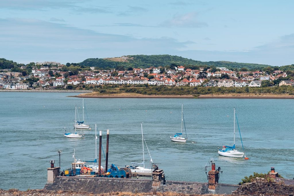 Refuse to hibernate Pays de Galles port depuis chateau de conwy