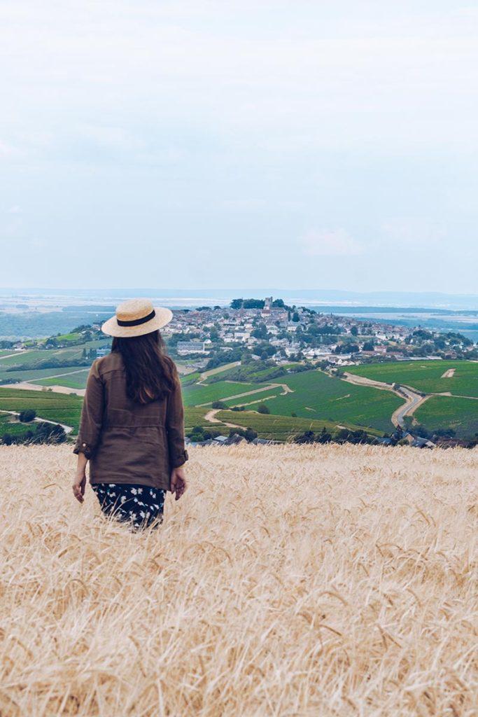 Refuse to hibernate Sancerre vue depuis champs-de blé Audrey