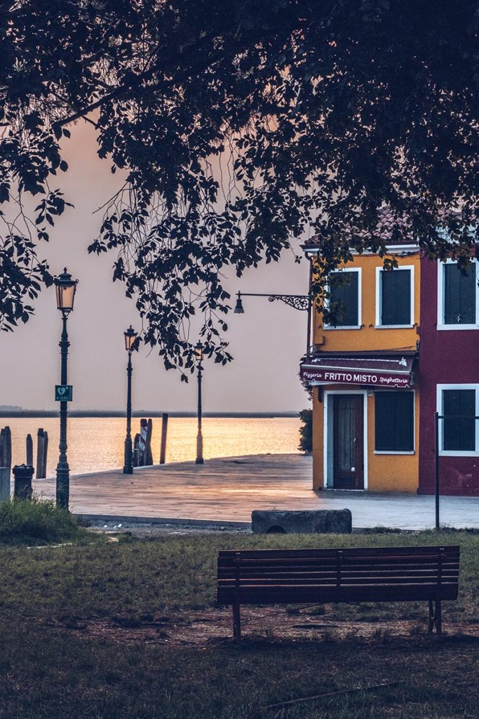 Refuse to hibernate Venise Burano lever de soleil