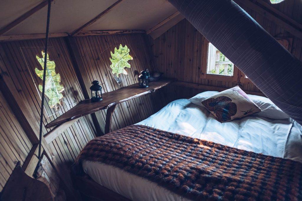 Eure-et-Loir domaine du Bois Landry lit cabane Refuse to hibernate