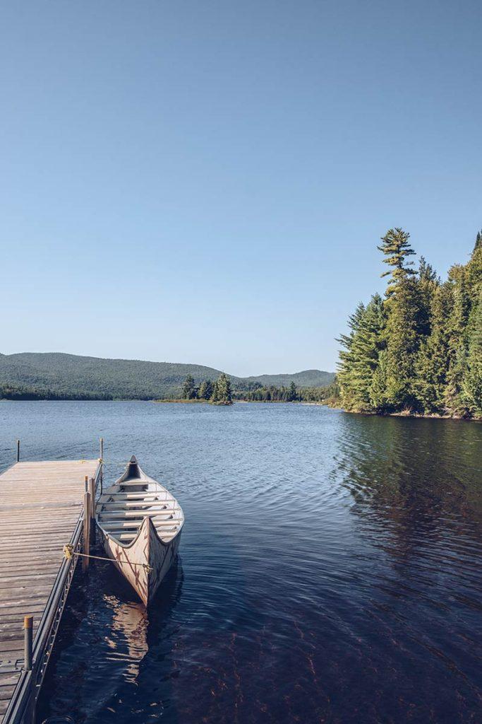 Refuse to hibernate Québec Parc National du Mont-Tremblant canot