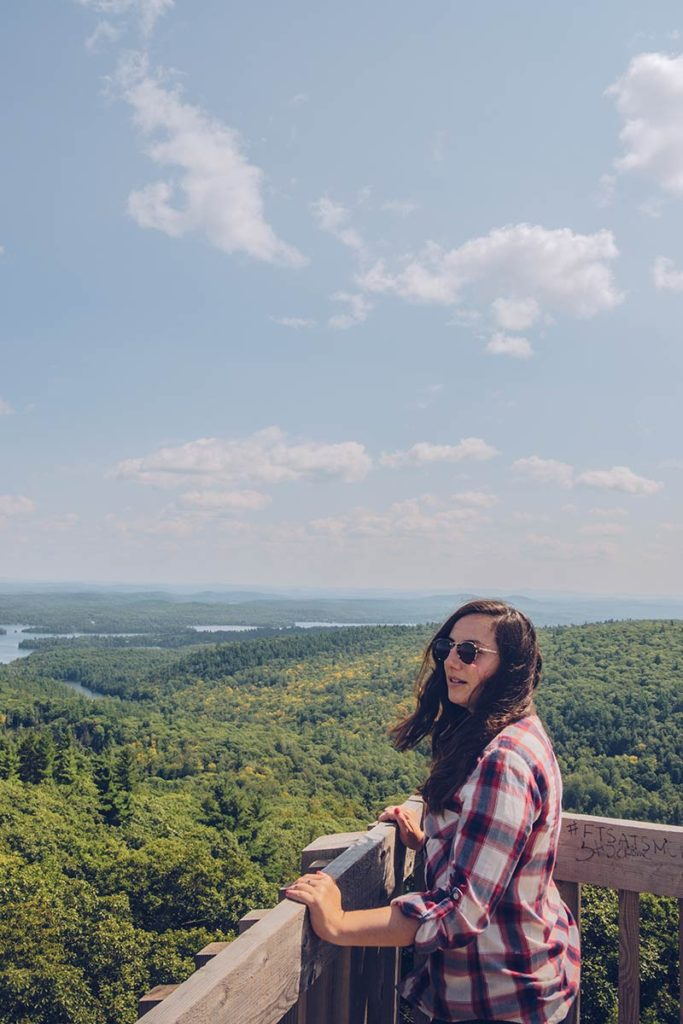 Refuse to hibernate Québec Parc régional du Mont Morissette tour observation sommet