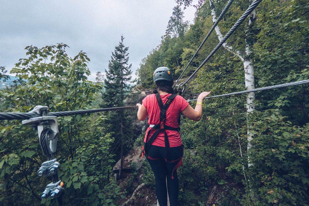 Refuse to hibernate Québec Tyroparc via ferreta pont