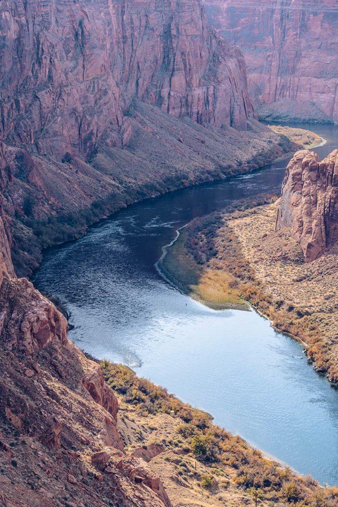 Antelope Canyon barrage du Glen Canyon côté rivière Refuse to hibernate