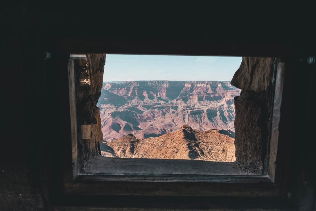 Grand Canyon Desert View depuis la tour Refuse to hibernate