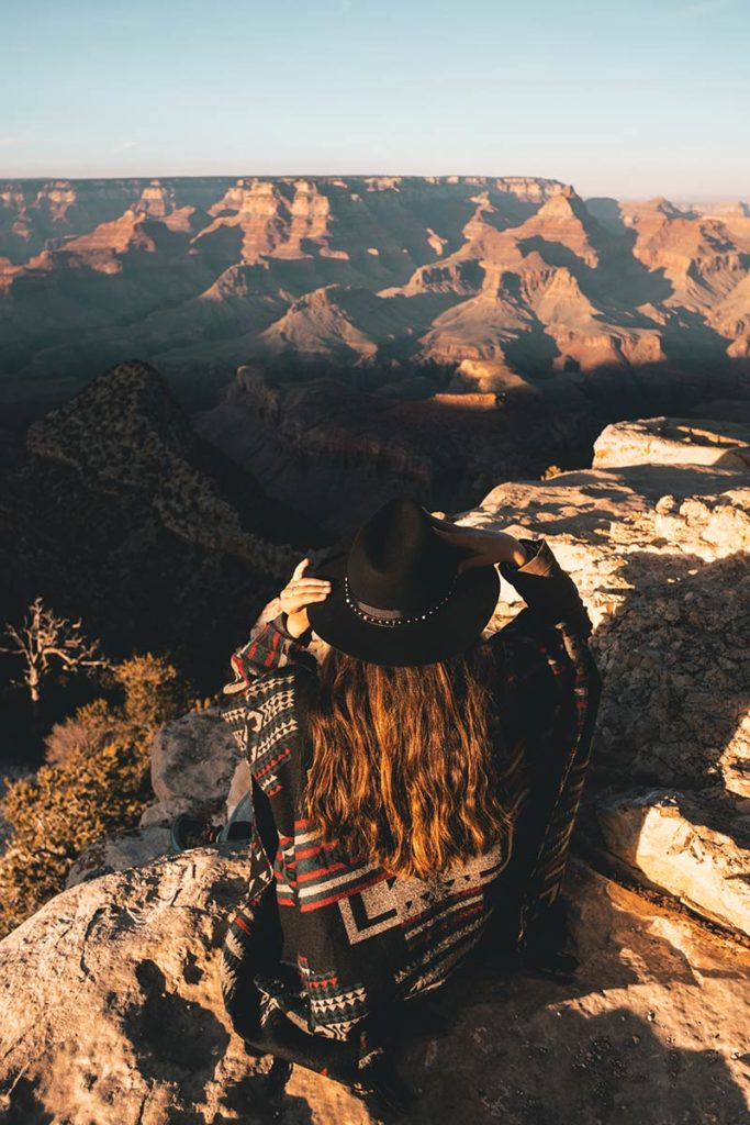 Grand Canyon Grandview Point Audrey coucher de soleil Refuse to hibernate