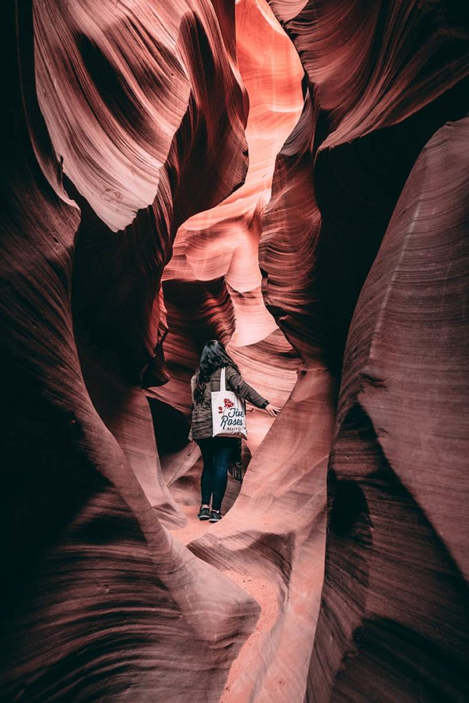 Lower Antelope Canyon Audrey couloir roche Refuse to hibernate
