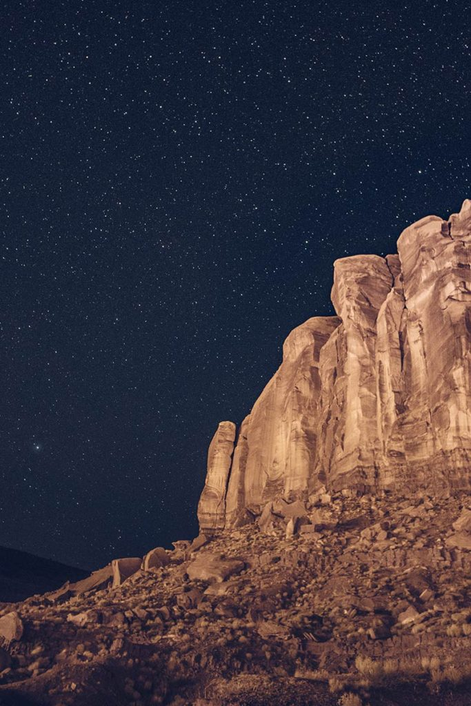 Monument Valley Goulding's Lodge roche étoiles Refuse to hibernate