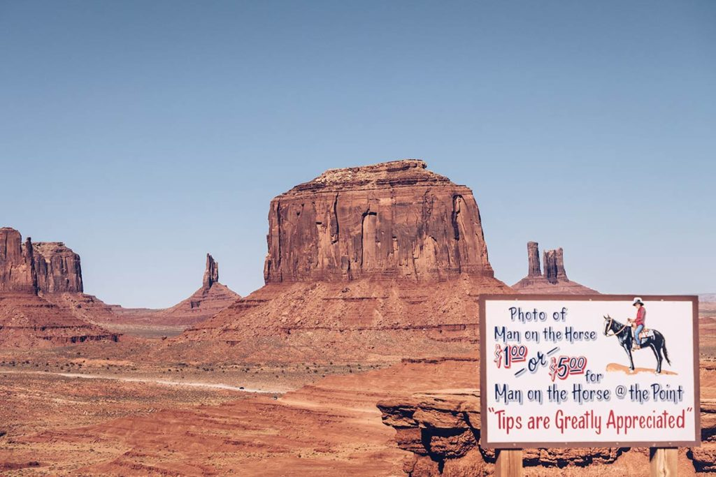 Monument Valley man on the horse Refuse to hibernate