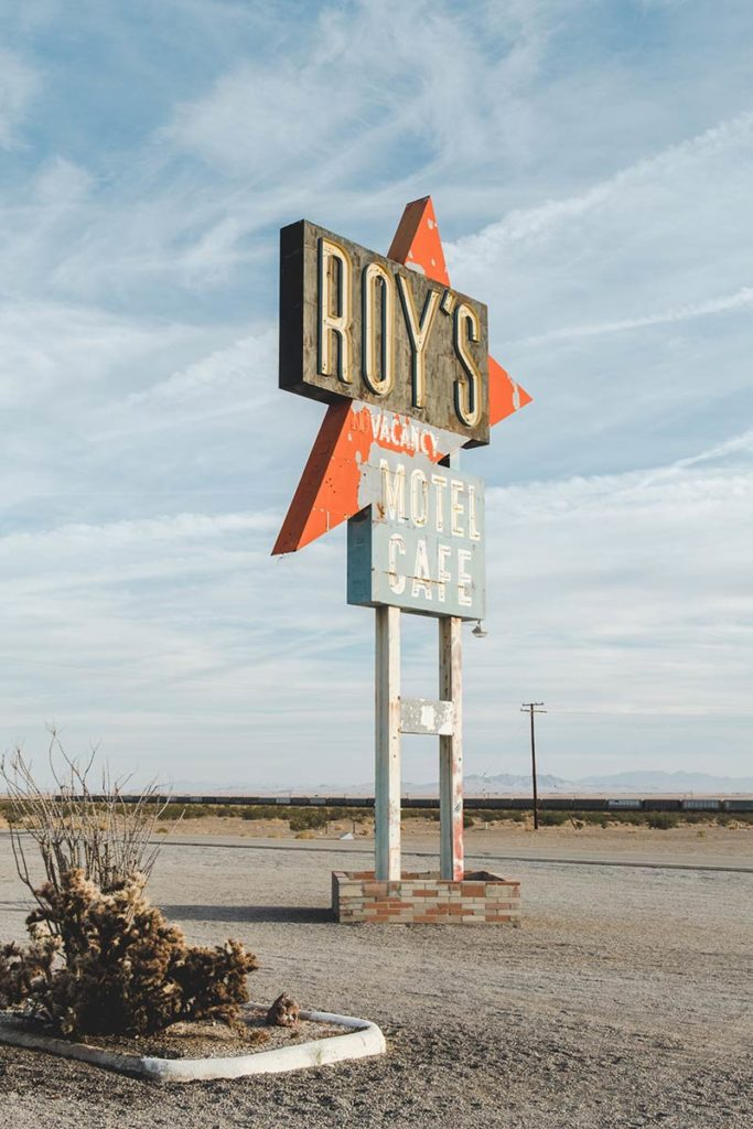 Pioneertown Roy's Vacancy Motel Café Refuse to hibernate