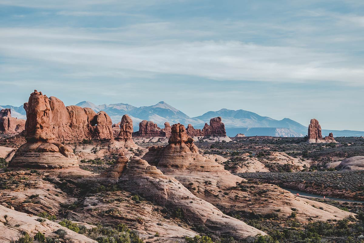 Utah Arches National Park scenic road montagnes Refuse to hibernate