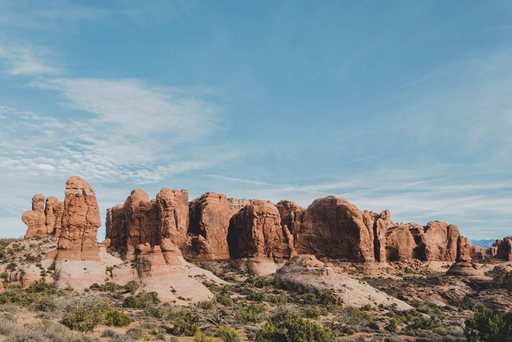 Utah Arches National Park scenic road Refuse to hibernate