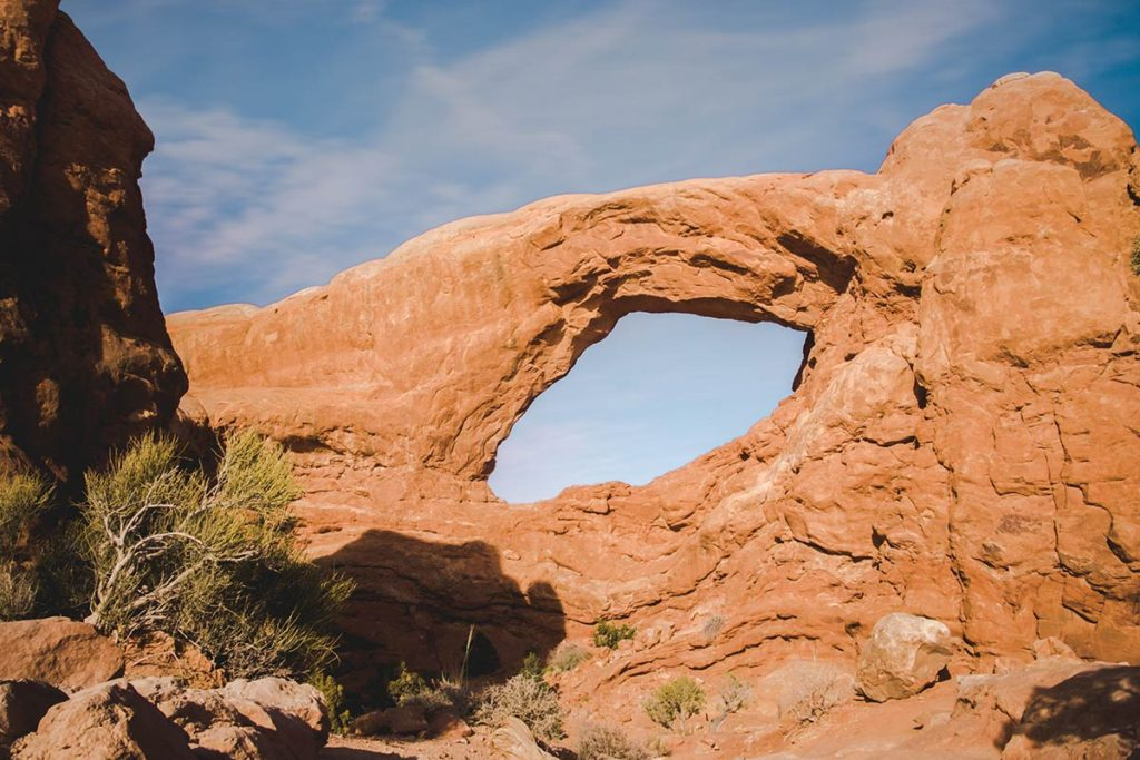 Utah Arches National Park Windows section Refuse to hibernate