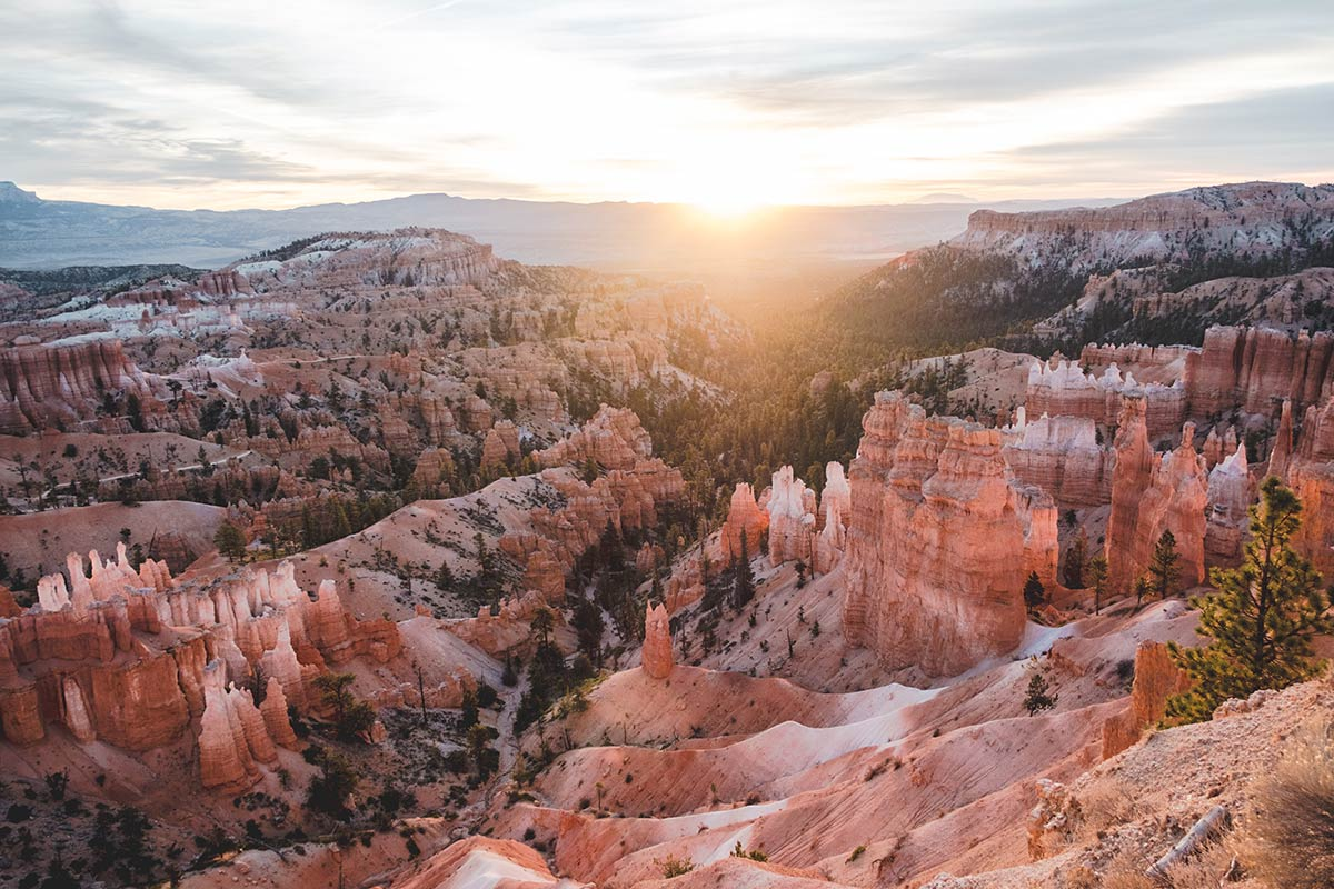 Utah Bryce Canyon Inspiration point lever de soleil Refuse to hibernate