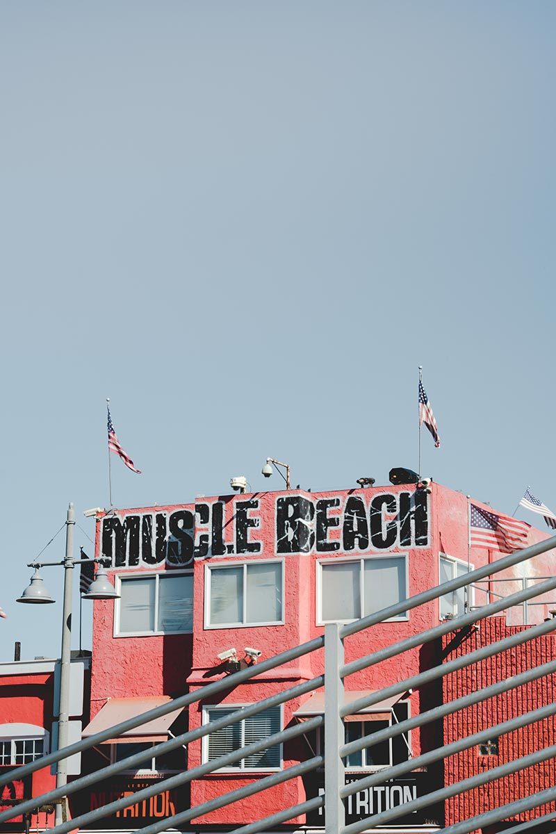 Los Angeles refuse to hibernate Venice Beach muscle beach
