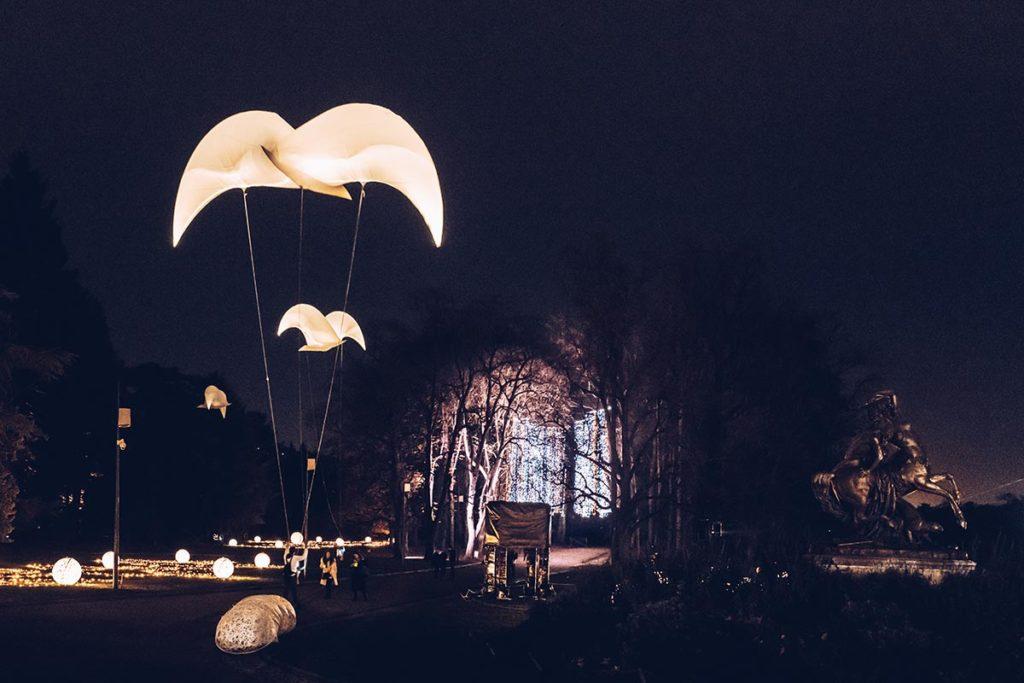 Fête des Lumières parc de la Tête d'Or Présages Refuse to hibernate