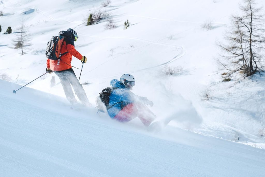 Valloire refuse to hibernate ski poudreuse