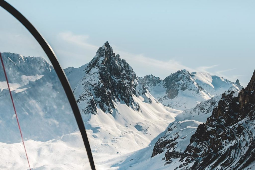 Valloire refuse to hibernate ULM sur ski montagne Aiguille Noire