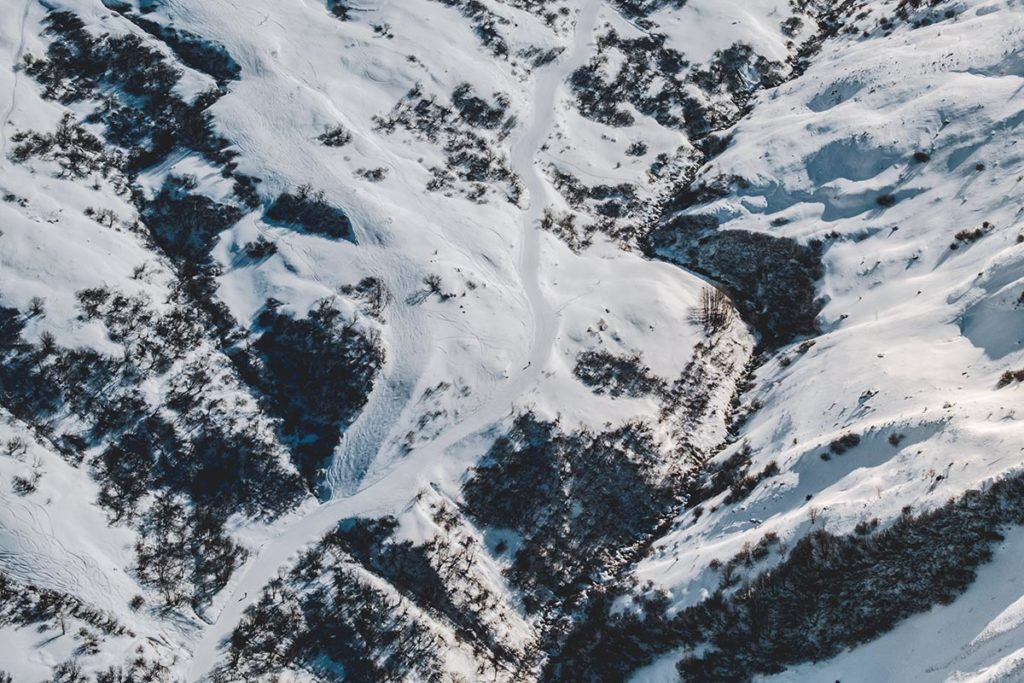 Valloire refuse to hibernate ULM sur ski vue
