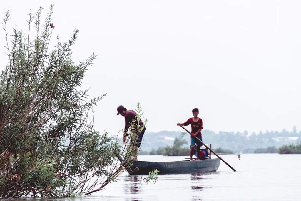 Cambodge Kratie pêcheurs Refuse to hibernate