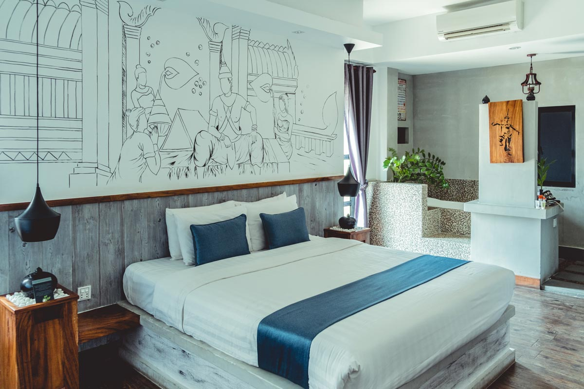 Cambodge Phnom Penh Double Leaf Boutique Hotel chambre Refuse to hibernate