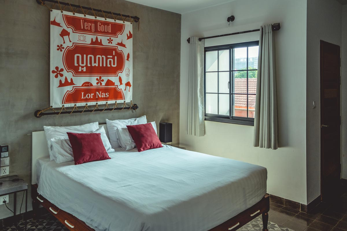 Cambodge Phnom Penh lit Aquarius Hotel and Urban Resort Refuse to hibernate