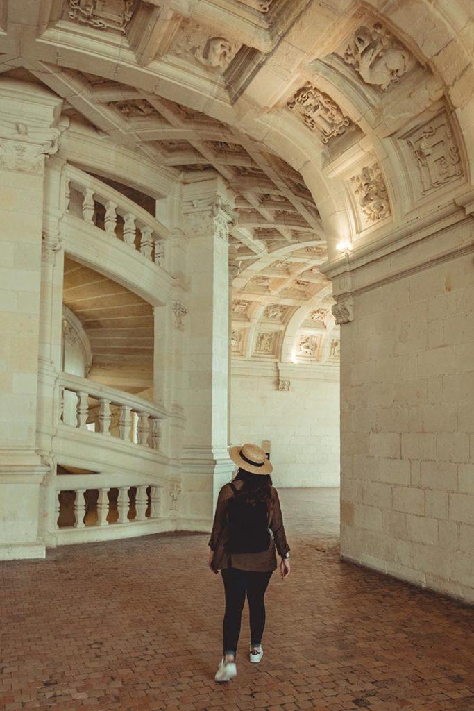 Châteaux de la Loire Chambord escalier intérieur Refuse to hibernate