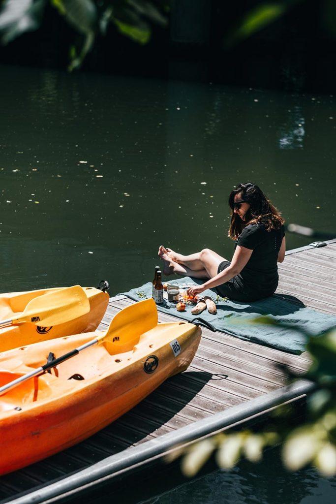 Eure Louviers kayak pique-nique Audrey Refuse to hibernate