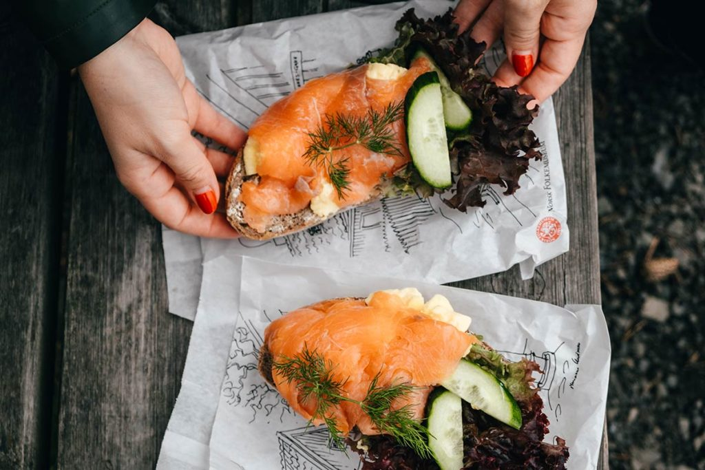 Oslo plage de Paradisbukta tartines repas Refuse to hibernate